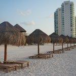 Área do Hotel na areia