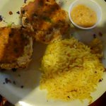 Mert's Famous Salmon cakes with Rice