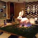Hotel lobby decorations for Easter wekeend...