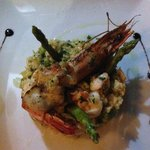 Tiger prawn risotto