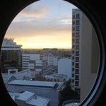 View through round window in LR/Dining Room