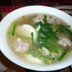 豆腐と豚ミンチスープ