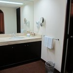 The vanity - the mini-bar was under the sink