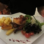 Grilled baby chicken - delicious and well presented meal