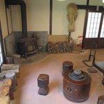玄関にある暖炉