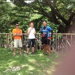Top guides Christian and Alvin with Gilly