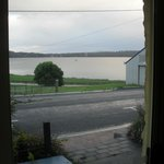 View through front sliding doors, 2 br apartment