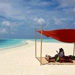 beach picnic on cocoa island