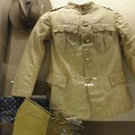 Roosevelt's clothing on display in the exhibit area at Theodore Roosevelt Birthplace NHS