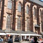 the side facade & souvenir shops!