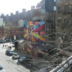 High Line Park - viewing the city