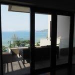 nice balcony with sea view