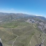 Paragliding over Cenes de la Vega