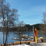 view of the lake from Bergsee