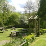 Our beautiful back garden in May, The PLough at Leigh, Kent