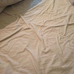 This bed had not been slept in, clean bed linen???