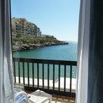 Bedroom 103 balcony and Xlendi Bay