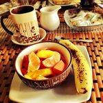 Fresh fruit at breakfast