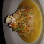Line Caught Mahi-Mahi,Cebiche with Pineapple and Passion fruit