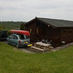 Large 6 Berth log cabin with parking