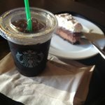 black iced coffee and guilt-free (according to a staff, it was sugar free :) ) chocolate cake
