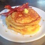 Bacon & maple syrup pancakes - Sunday brunch