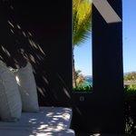 Poolside veranda of Villa