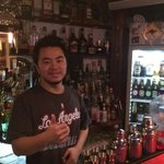 Co-owner and great English speaking barman