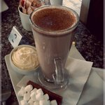 Ordered a hot chocolate and got this.  It was fab!  Reccomend :)
