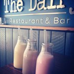 Fresh milkshakes at The Dairy - Oreo biscuit, fresh banana or strawberry, all made with local Ta