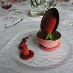 the delicious Easter menu dessert,ice creams and chocolate egg.