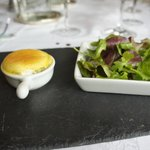 the tasty little cheese souffle.