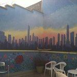 Outside patio / breakfast area