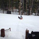 Ski Run Behind the Lodge