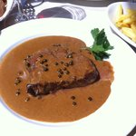 Beef with pepper sauce
