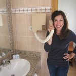 Hair dryer - goofing around like it is a phone