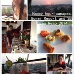 Happy hour canapes, Borei Resort and Spa