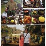 Sunset dinner cruise, Siem Reap