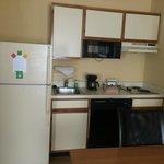 Small kitchen area in studio room