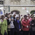 Crowds cather for the Last Post