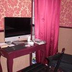 TV Computer desk and closet