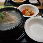 Gingseng chicken in boiling soup