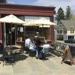 Shots Café, outdoor seating, Lenox, MA