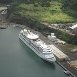 Our ship from the air