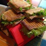 My panino with ham, artichokes and gorgonzola cheese