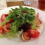The grilled shrimp salad