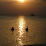 Baden im Sonnenuntergang :-)