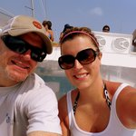 Great time on the catamaran