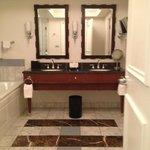 Luxury double sinks and tv