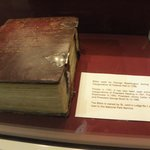 Inside the Memorial - the bible used to swear in George Washington